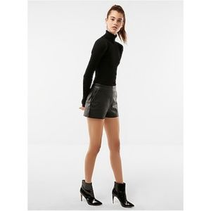 Express High Rise (Minus The) Leather Shorts Black